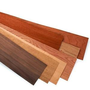 Variety Veneer Pack 7 Domestic Wood Types Unbacked 5 1 2 W X 48 L 12 Sq Ft