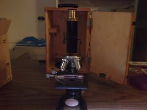 Antique Bausch And Lomb Microscope Number 148075