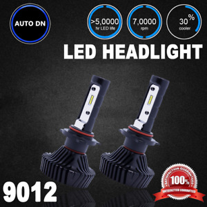 2pcs 6000k Car Led 9000lm 80w Headlight Low Beam Lamp Bulb 9012 For Bmw