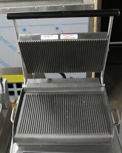 Star Commercial Panini Press W Cast Iron Grooved Plates 1527 7 Online