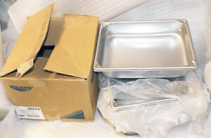 Lot 6 Vollrath 30222 1 2 Size Stainless Steel Steam Table Hotel Pan 2 1 2 Deep