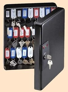 50 Key Safety Lock Box Shop Office Safety Control Cabinet Wall Mount Secure Case