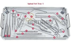 Basic Spinal Instrument Set Of 28 Pieces Of Surgical Neurosurgic
