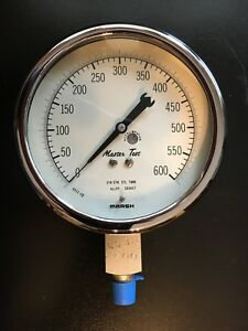 Pressure Gauge Protective Cover Marsh Master test 5 Diameter 600 Psi New