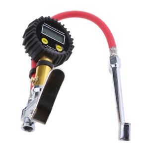 Digital Tire Inflator With Pressure Gauge 0 200psi With Hose Lcd Display 4