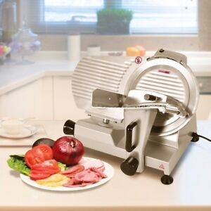 12 High Efficiency Semi Auto Commercial Meat Slicer Food Slicing Cheese Cutter