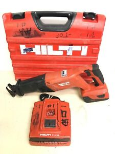 Hilti Wsr 18 a Reciprocating Saw W B18 Battery Charger Case used