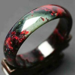 Chinese Natural Beautiful Lavender Green Red Nephrite Jade Bangle Bracelet 60mm