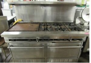 Sunfire Six Burner Gas Range W 24 Griddle And Double Oven Combo