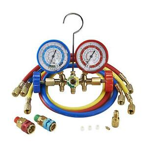 Orionmotortech 3ft Ac Diagnostic Manifold Freon Gauge Set For R134a R12 R22
