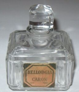 Vintage Caron Bellodgia Perfume Bottle Baccarat Numbered 3 3 4 Ht Empty 5
