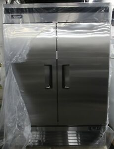 New 2 Door Stainless Freezer