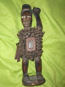 Superb Small Old African Bakongo Nail Fetish Figure Congo