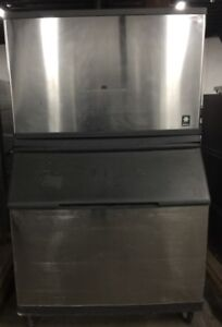 Manitowoc Cuber Ice Machine And Bin 1860lb A Day 220v Air Cooled