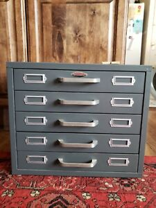 Vintage Neumade Metal Slide Small Parts Cabinet 15 5 X 13 X 12 Dividers