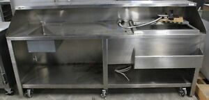 Portable Stainless Commercial Bar On Casters