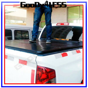99 18 Ford F250 Super Duty 6 6ft 84 Bed Hard Trifold Clamp On Tonneau Cover
