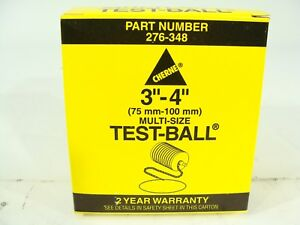 New Cherne 276 348 Rubber 3 To 4 75 100mm Multi size Test ball Plug 276348