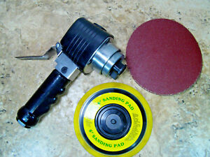 Pre Owned Tested Task Force 6 Air Sander W 6 Pad Sand Paper Disc