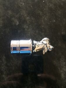 Vintage 12v Car Lighter Plug In Dog Poodle Silver Plate Tone 3 tall