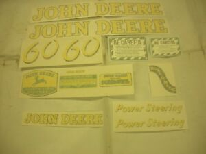 John Deere 60 Decal Set Vinyl Cut New Free Shipping