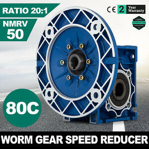 Mrv050 Worm Gear 20 1 80c Speed Reducer Equipment Electric 1 14hp Aluminum