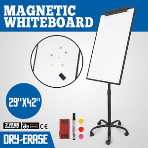 Mobile Dry Erase Board 29 X 42 Magnetic Single Sided Whiteboard Stand