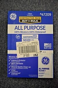 Ge 47209 All Purpose Clear Silicone Caulk Contractor Pack Of 12
