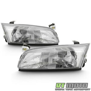 For 1997 1998 1999 Toyota Camry Headlights Headlamps Replacement Set Left Right