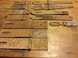 12 Iron Steel Barn Door Haspe Latches Only Hinged Straight Ones Varity