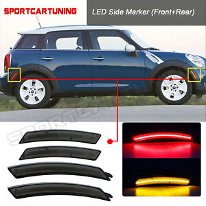 4x Front rear Led Side Fender Marker Light R55 r56 r57 r58 r59 r60 r61 07 16