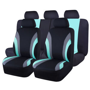 Universal Car Seat Covers Mint Blue Fit Suv Truck Van Honda Hyundai Ford Toyota