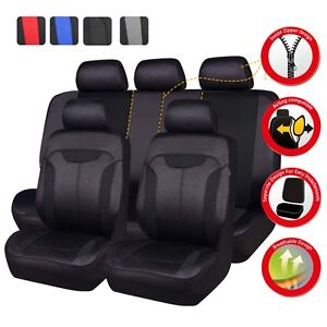 Universal Car Seat Covers Black Auto Seat Protector Fit For 60 40 50 50 40 60