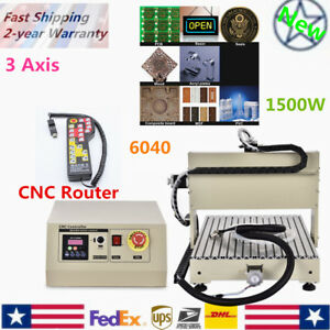 3 Axis Cnc Router Engraver Set 1500w Engraving Milling Machine controller 6040