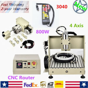 4 Axis 3040 Cnc Router Engraver Drill Machine Water cooling Carving Control 800w