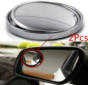 Auto 360 Wide Angle Convex Rear Side View Blind Spot Mirror Universal 2pcs Car