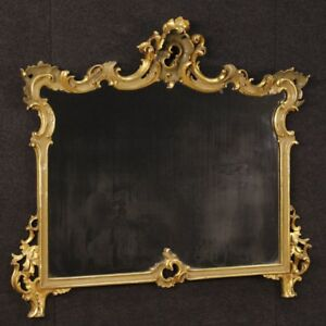 Mirror Venetian Furniture Wood Lacquered Golden Antique Style Frame 900