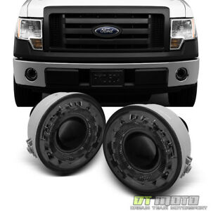 Smoke 2006 2010 Ford F150 Lobo Halo Projector Fog Lights Lamps W Switch Bulbs