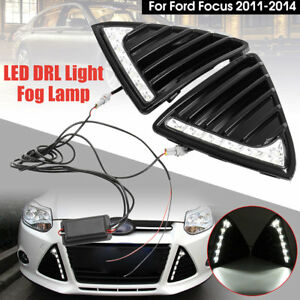 1 Pair Car 7 Led Daytime Running Light Fog Lamp Drl For Ford Focus 2011 2014