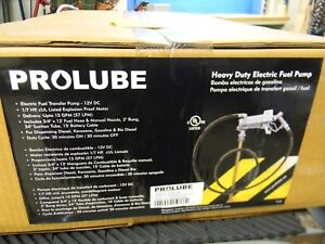 Pro lube 15 Gpm 12 Vdc Electric Fuel Transfer Pump 1 7 Hp 3 4 Hose
