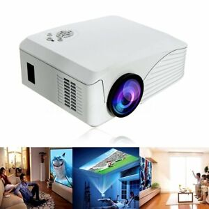 Portable 7000 Lumens Hd 1080p Multimedia Projector Led Home Theater Hdmi Usb Mc