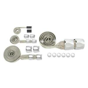 Speedway 6507488 Chrome Braided Hose Dress Up Covering Sleeve Kit