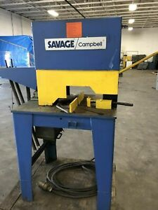 Abrasive Metal Cutting Friction Saw Savage Campbell 20
