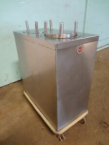 A M F S s Mobile Heated 9 Dual Plate Dispenser carrier cart On Casters