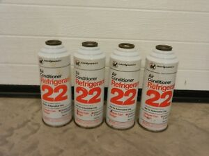 4 15oz Cans Of R22 Refrigerant By Interdynamics