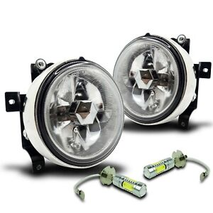 For 03 06 Honda Element Fog Lights W wiring Kit Top Projector Cob Led Clear