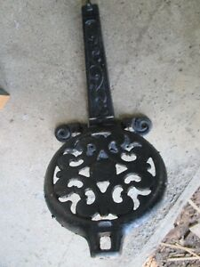 Cast Iron Warming Shelf And Bracket Antique Wood Stove Parts Cook Stove