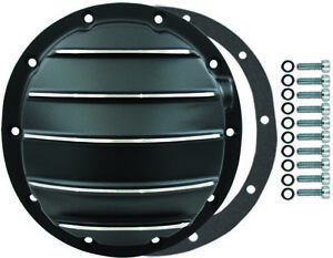 Chevy 10 Bolt Finned Black Aluminium Differential Cover 8 5 Rg Camaro Chevelle