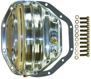 Dana 80 10 Bolt Rear Finned Polished Aluminium Differential Cover Ford Sd Dwr