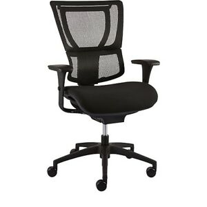 New staples Proseries 1500tf Executive Chair Mesh With Fabric Seat Black
